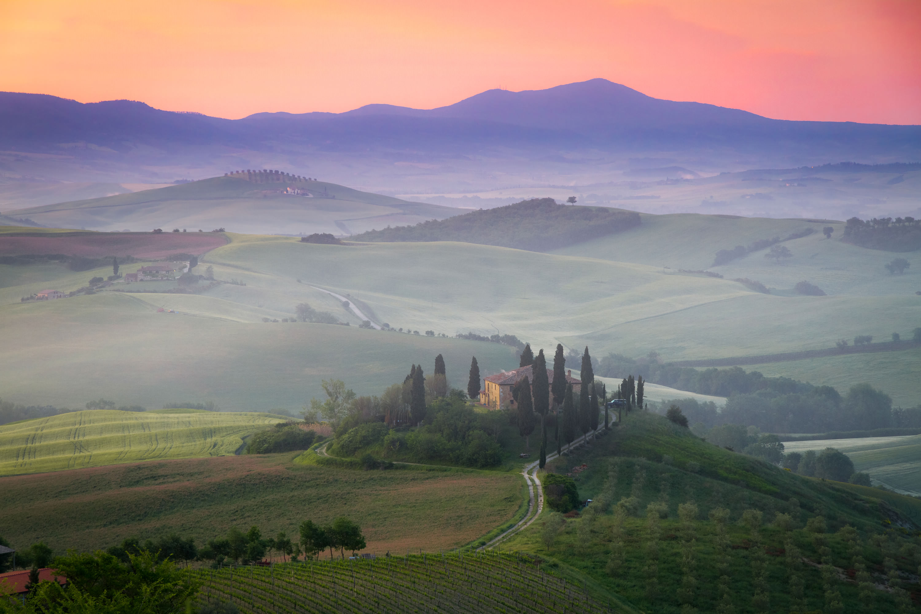 San Quirico d'Orcia Italy  city pictures gallery : ... Belvedere at dawn, San Quirico d'Orcia, Italy West University Travel